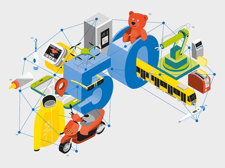 TÜV Rheinland Illustration Internet of Things Außenseiten outerpages