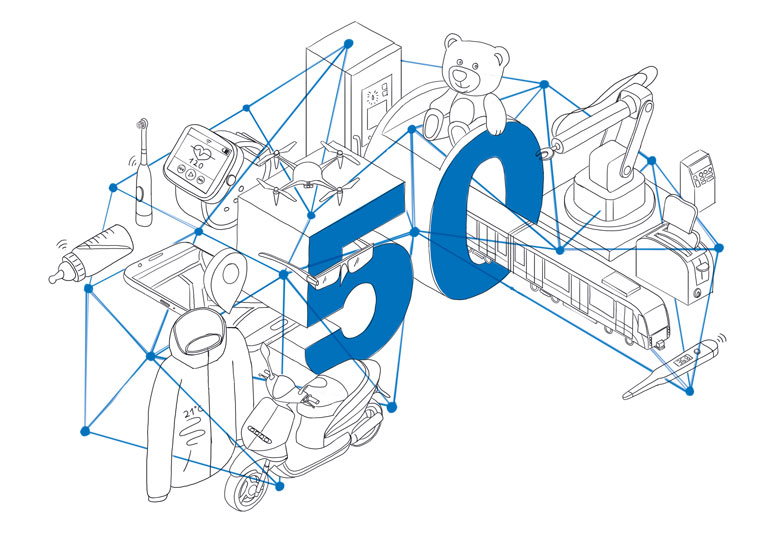 TÜV Rheinland Illustration Internet of Things Außenseiten outerpages Entwurf draft