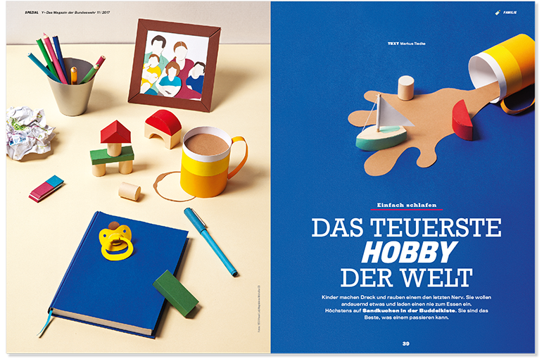 Vaterschaft Papercraft Doppelseite 1, Paternity Papercraft spread 1