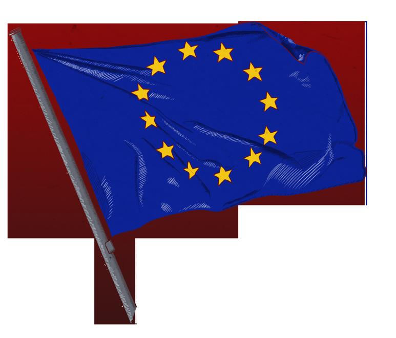 Illustrationen zu Fahnen und Flaggen: Europafahne, european flag