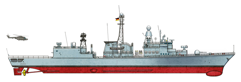 Fregatte frigate F122 Illustration