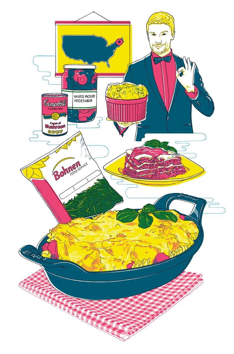 Küchenkultur Illustrationen Auflauf, Illustrations casserole