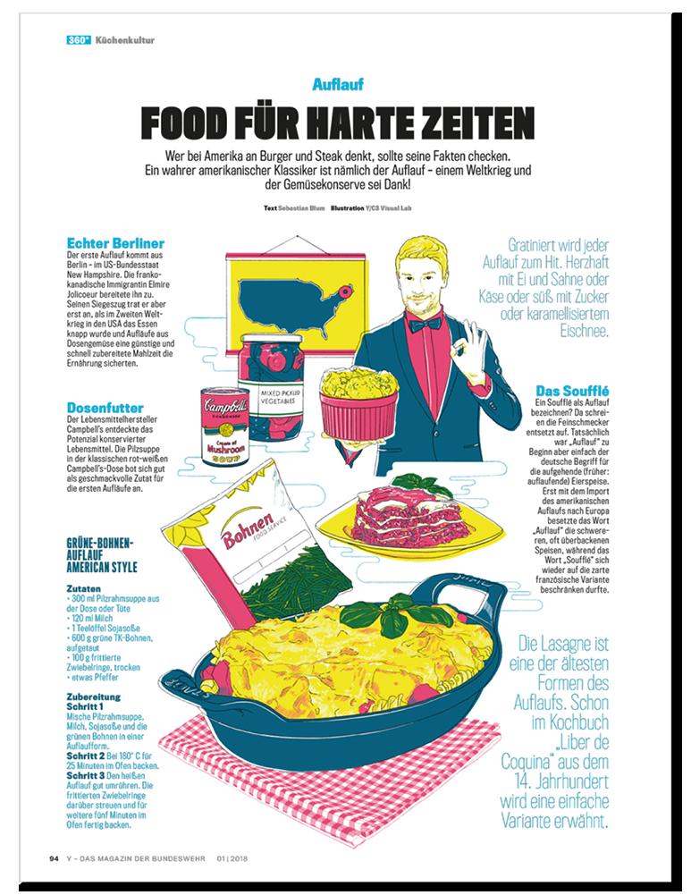 Küchenkultur Illustrationen Auflauf Layout, Food Illustrations casserole Layout