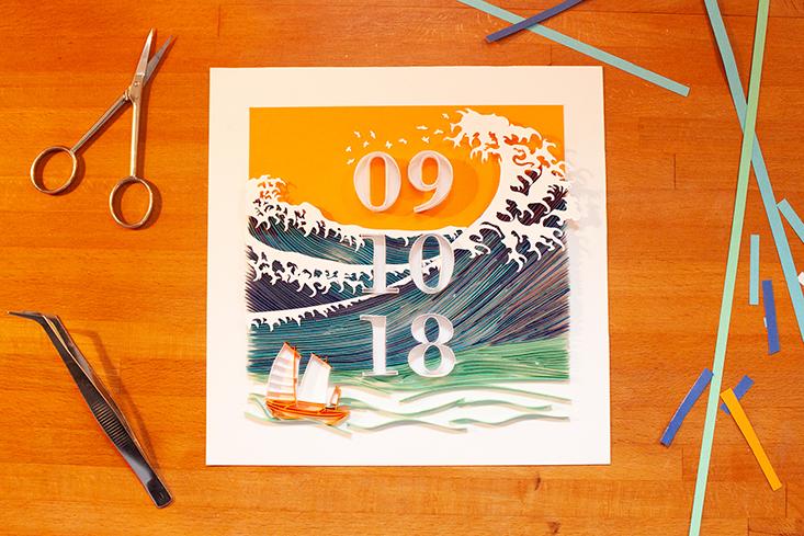Papercraft Ozean Ocean, Schreibtisch Desk