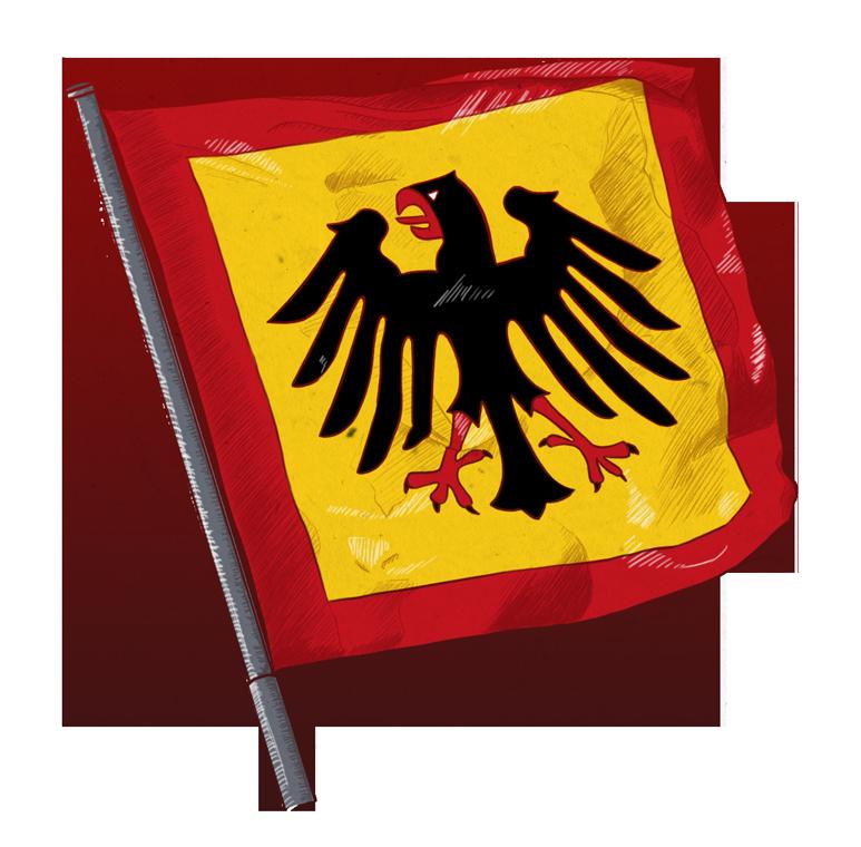 Illustrationen zu Fahnen und Flaggen: Standarte Bundespräsident, flag Federal President