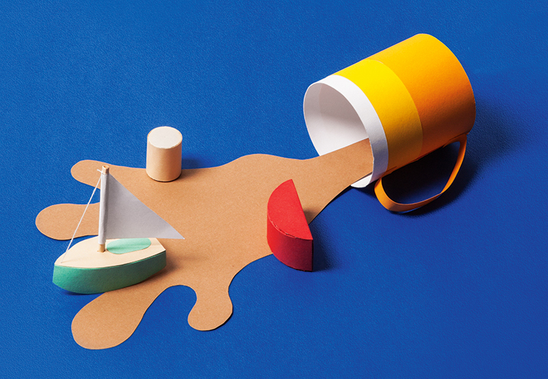 Vaterschaft Papercraft Tasse und Schiff, Paternity Papercraft cup and ship