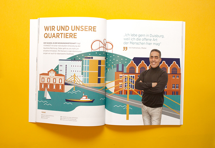 Vivawest Geschäftsbericht Kapiteltrenner, Vivawest Annual Report sample page