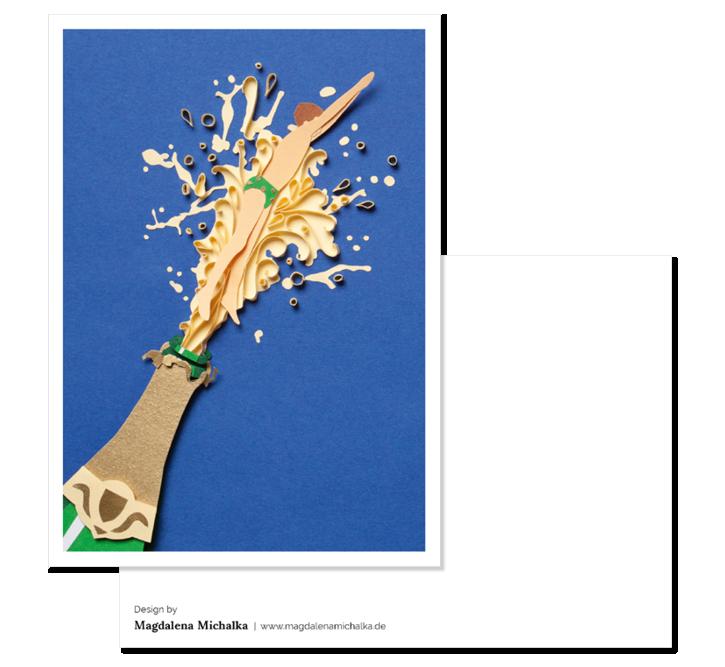 Papercraft Postkarte Rueckseite